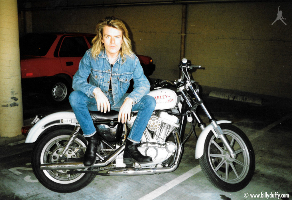 Billy Duffy and his white Harley...