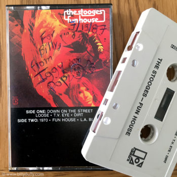 """Funhouse Fan Boy""… Stooges Cassette signed by Iggy"