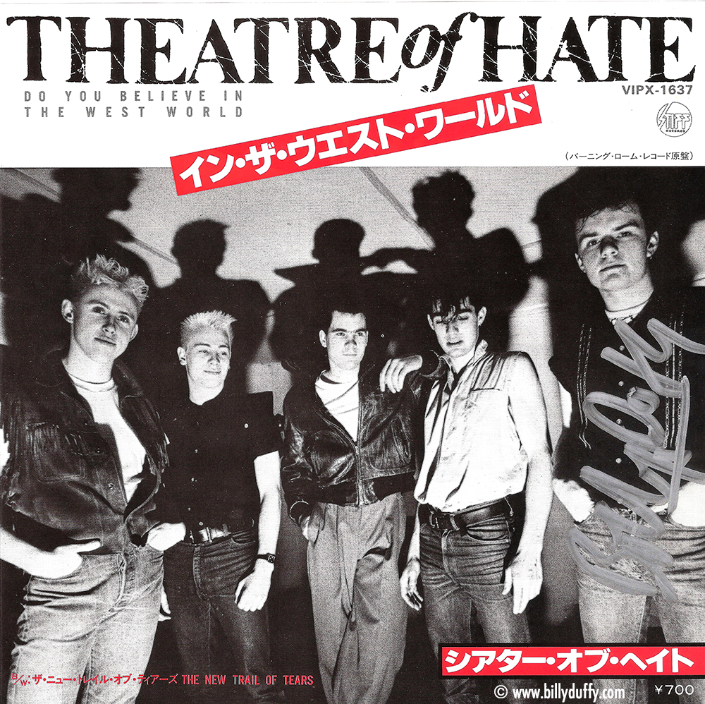 "Rare 'Theatre of Hate' Japanese 7"" Single"