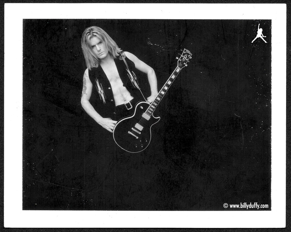 Black & White polaroid with Les Paul