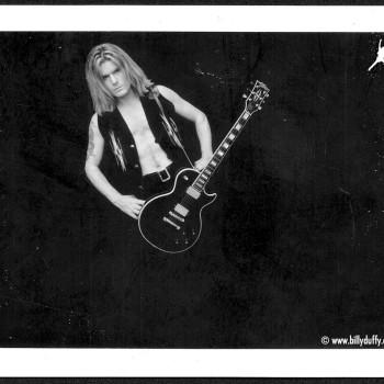 Black & White polaroid with Les Paul