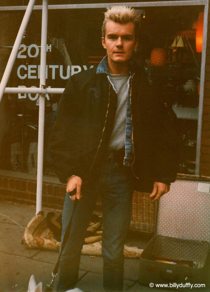 Billy Duffy on Kings Rd, London in 1986