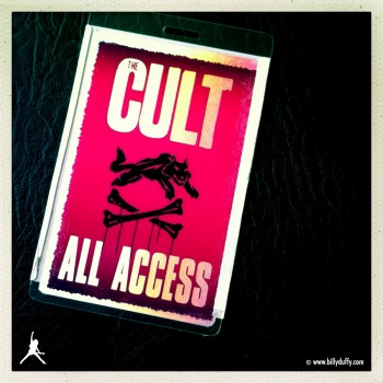 Billy's 'Born into this' tour laminate 08-2010