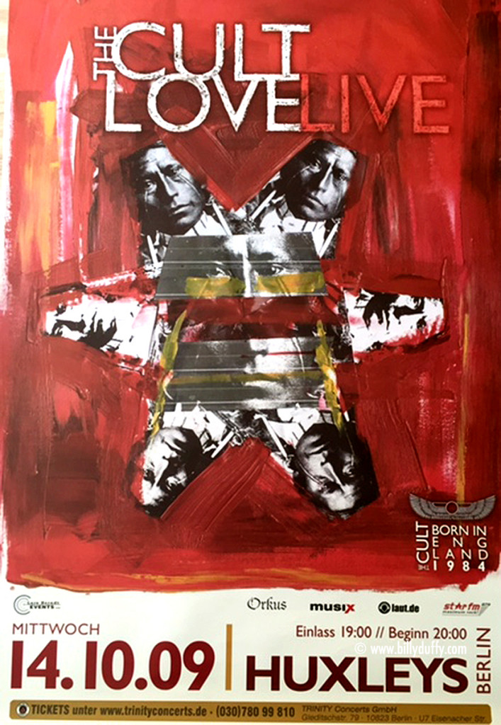 The Cult 'Love Live' Gig Poster 14-10-2009