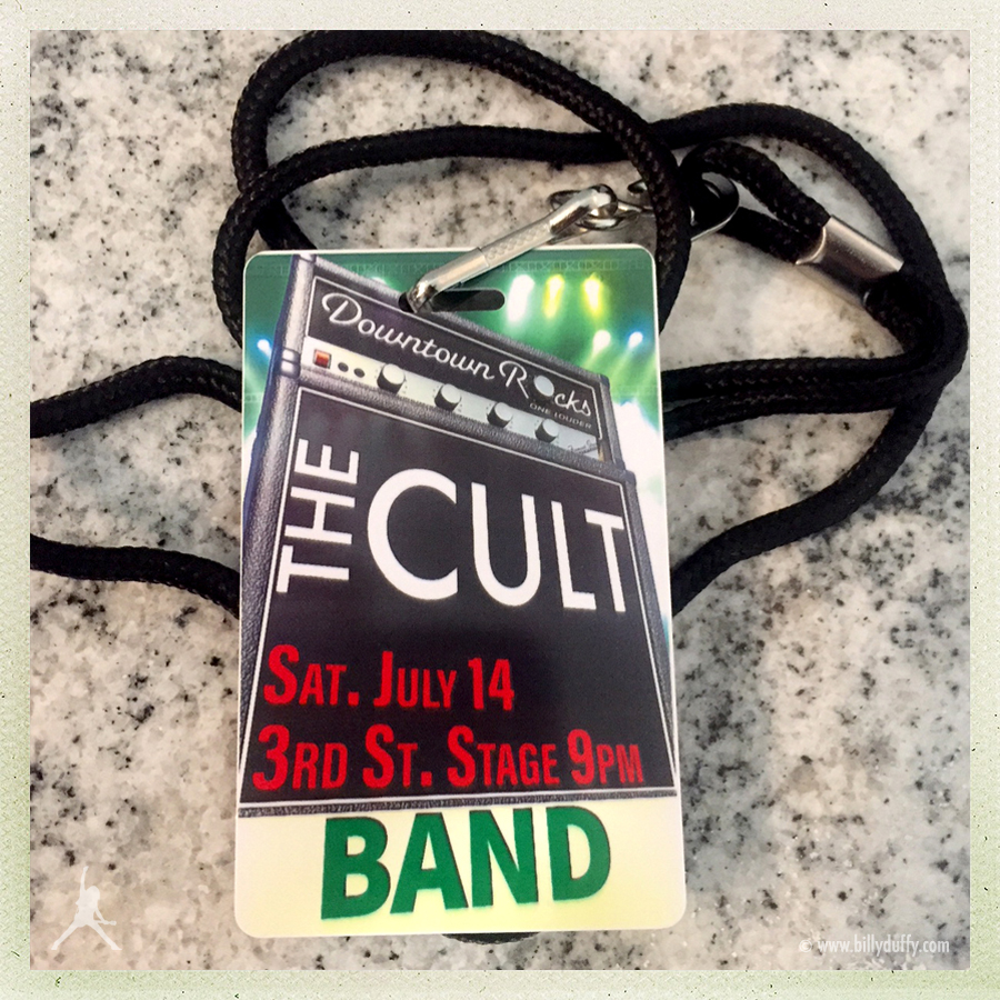 Billy Duffy's Laminate for The Cult in Las Vegas 14-07-2018