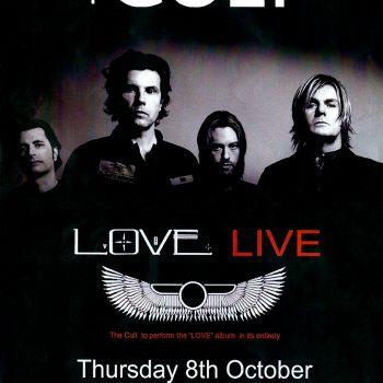 The Cult 'Love Live' Poster – 08-10-2009
