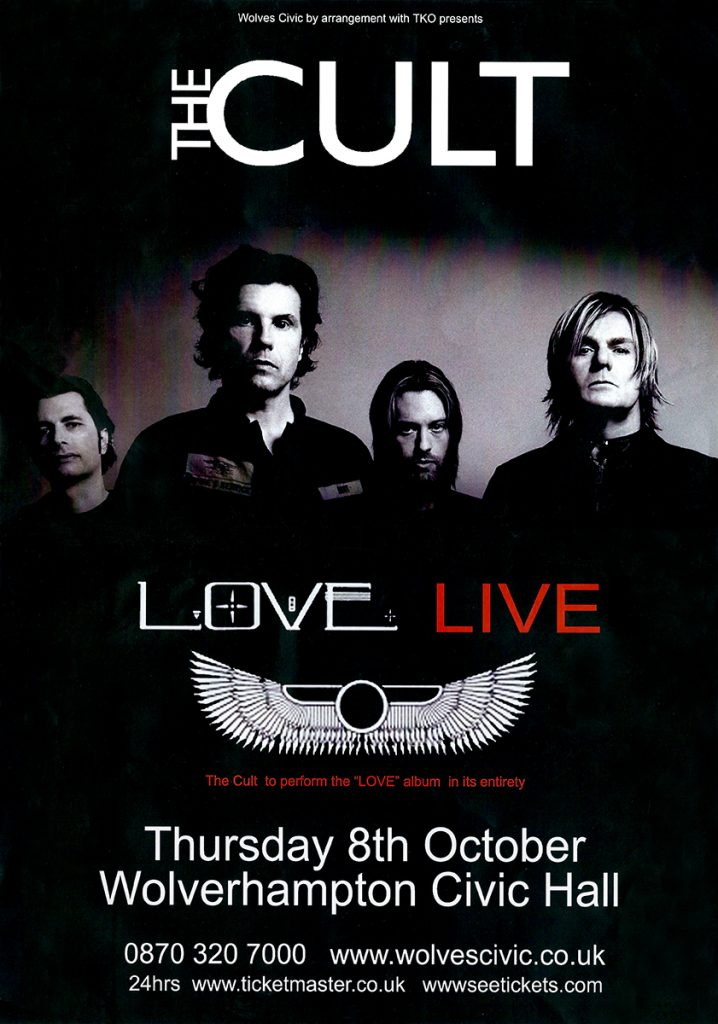 The Cult 'Love Live' Poster - 08-10-2009