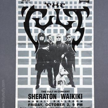 The Cult – Hawaii Gig poster – 02-10-1987