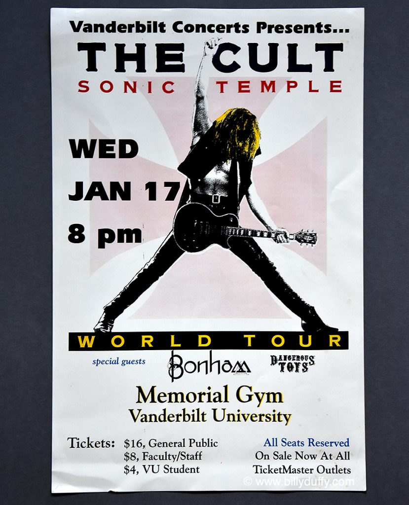 The Cult Poster 17-01-1990