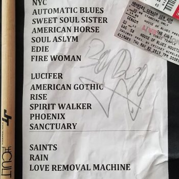 The Cult set list 02-05-2019