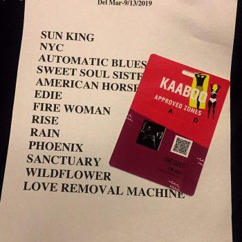 The Cult setlist 13-09-19