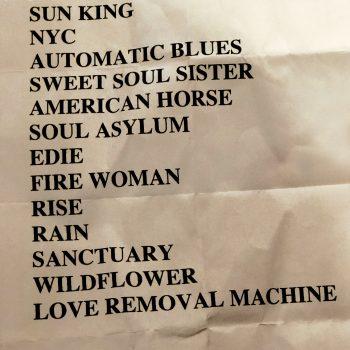 The Cult setlist 14-09-19