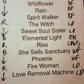 The Cult set list 04-08-18