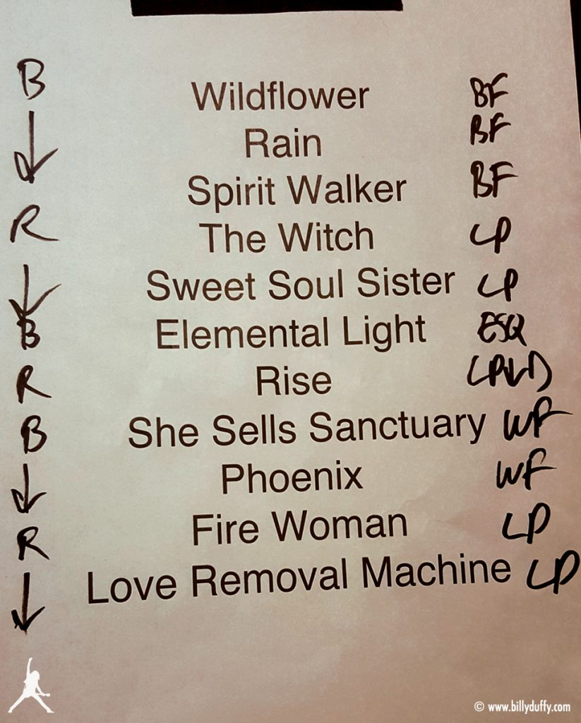 The Cult set list 04-08-18