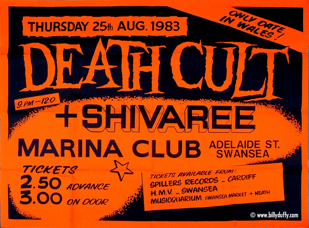 Death Cult Poster - Swansea 1983