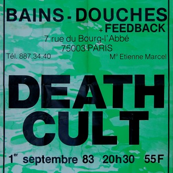 Death Cult Poster – Paris 01-09-1983