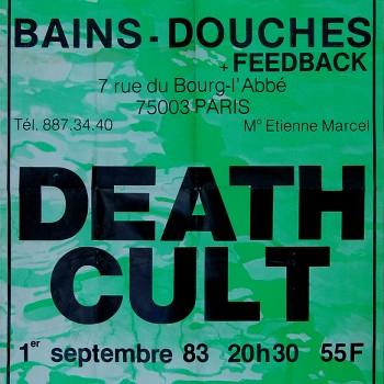 Death Cult Poster – Paris 01-09-1983