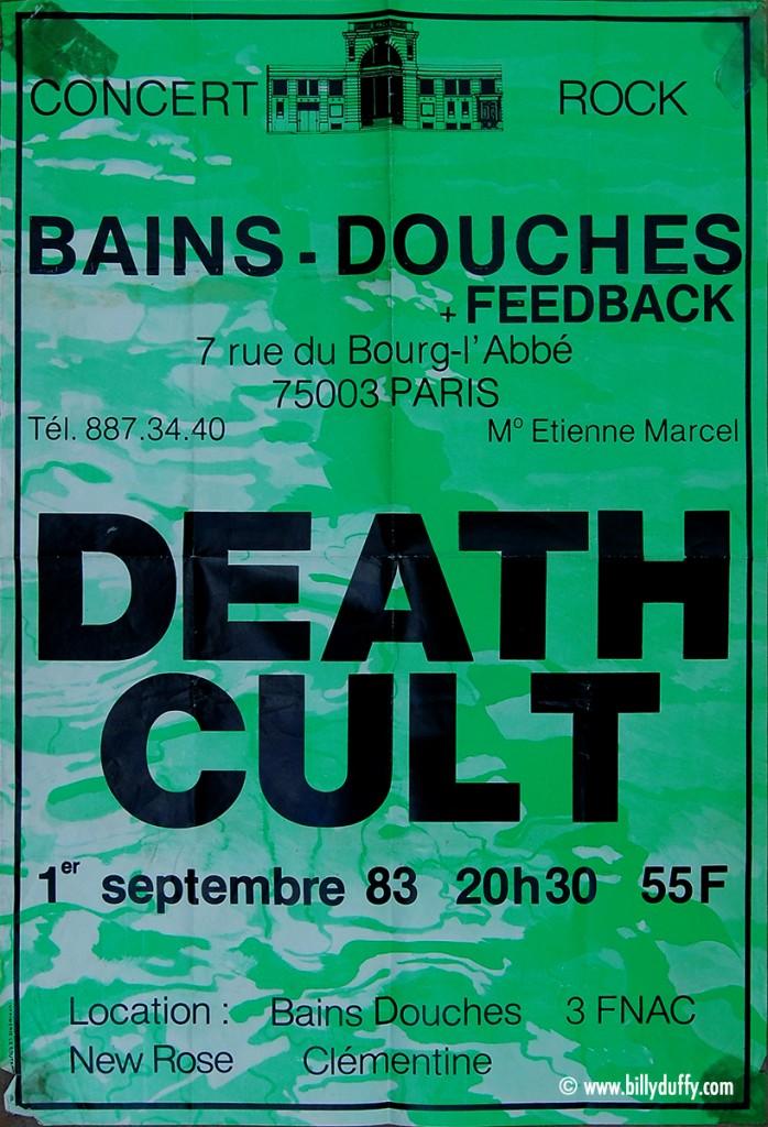 Death Cult Poster - Paris 01-09-1983