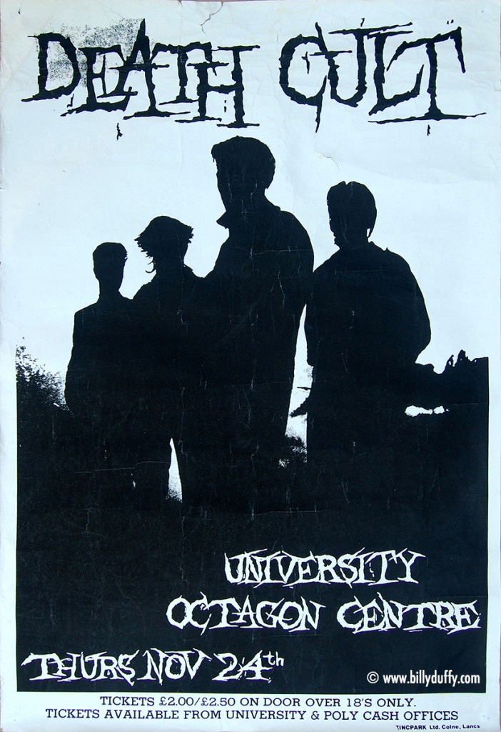Death Cult Poster - Sheffield 24-11-1983