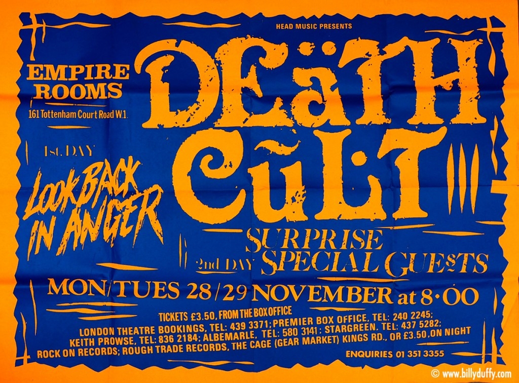 Death Cult Poster - London 29-11-1983