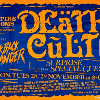 Death Cult Poster – London 29-11-1983