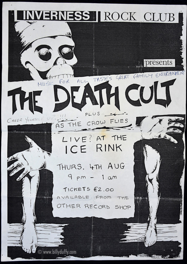 Death Cult poster 04-08-1983