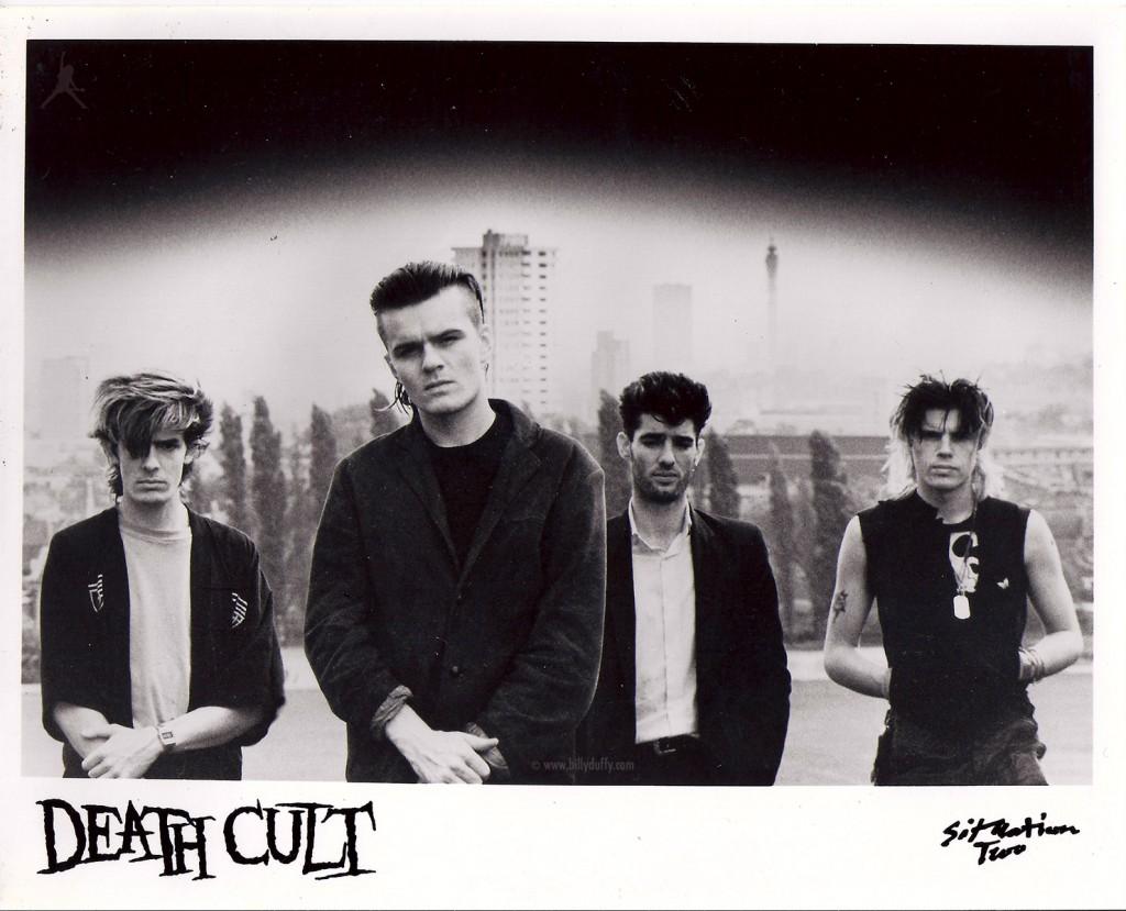 Death Cult press photo featuring Billy Duffy