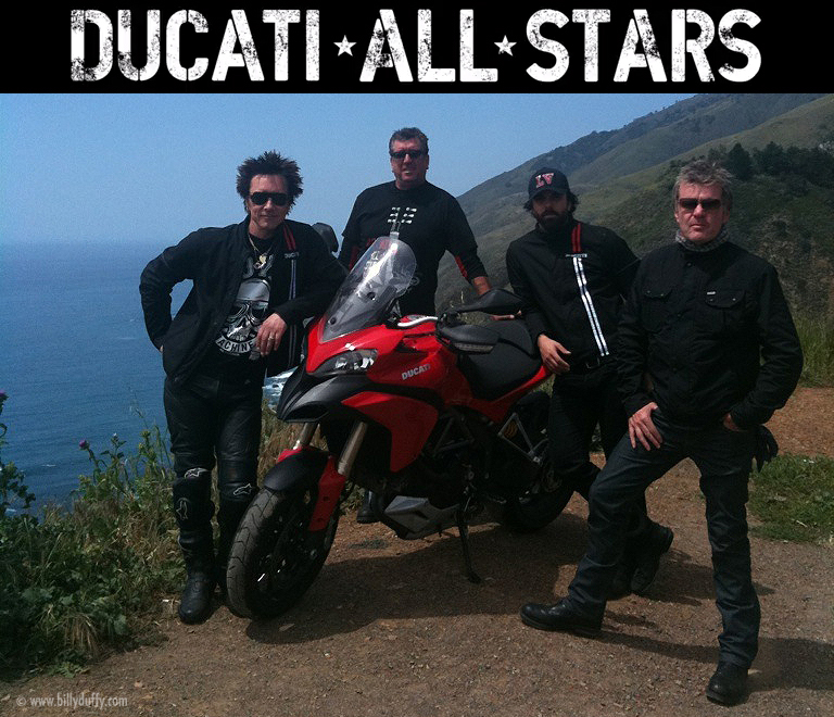 Billy Duffy with the Ducati All Stars
