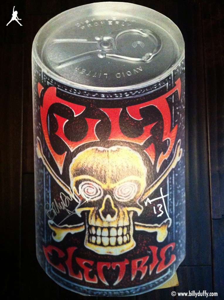 The Cult Giant 'Electric' Beer Can Promo Stand
