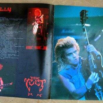 Billy's pages in The Cult 'Electric World Tour 87' Programme