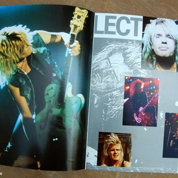 Billy's pages in The Cult 'Electric World Tour 87' Programme #2