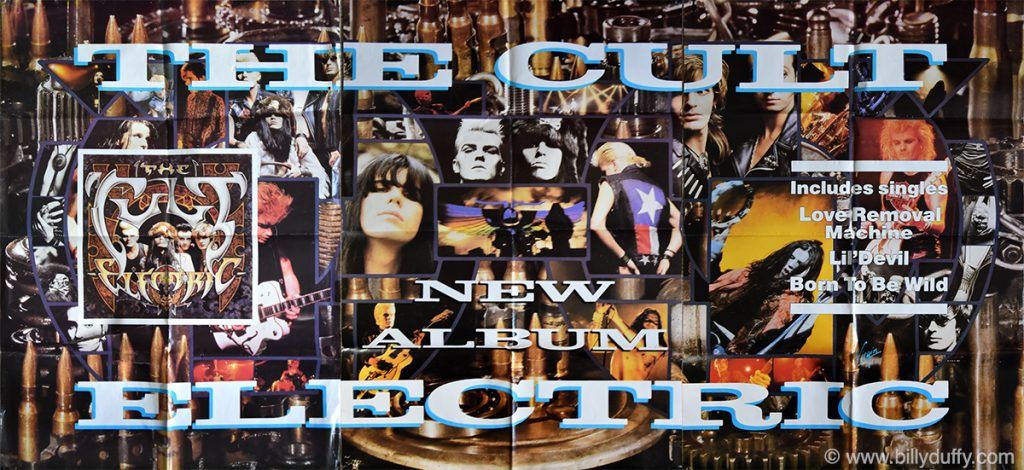 The Cult Electric 'New Album' Triptych Poster