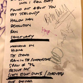 """Rock The Pines"" Set List 20-10-2018"