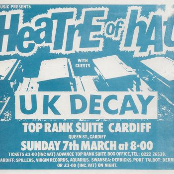 Theatre of Hate Flyer 07-03-1982