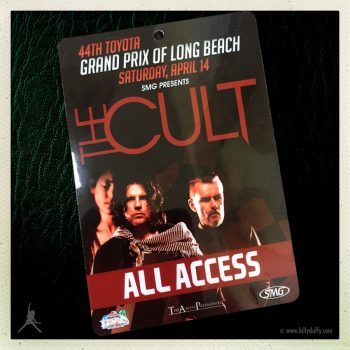 Billy's Laminate for The Cult at Rock n Roar 14-04-2018
