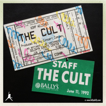 Ticket & Pass from The Cult in Vegas 1992