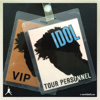 Billy's Laminates from The Cult on the Billy Idol Tour – 1987