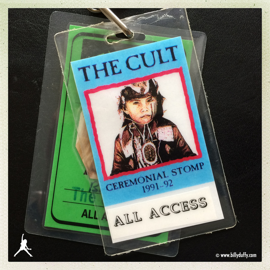 Billy Duffy's All Access Laminate pass from The Cult 'Ceremonial Stomp' Tour