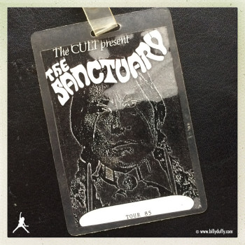 Billy's Laminate from The Cult 'Sanctuary' 1985 UK Tour