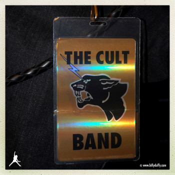Billy's laminate for The Cult Electric 13 tour 2013