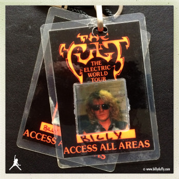 Billy's Photo Laminate #2 from The Cult 'Electric' World Tour
