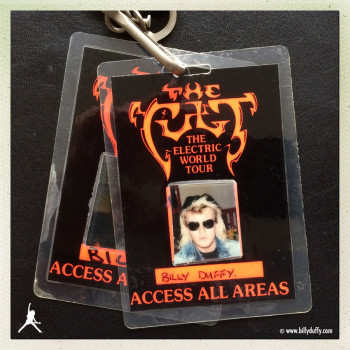 Billy's Photo Laminate #1 from The Cult 'Electric' World Tour
