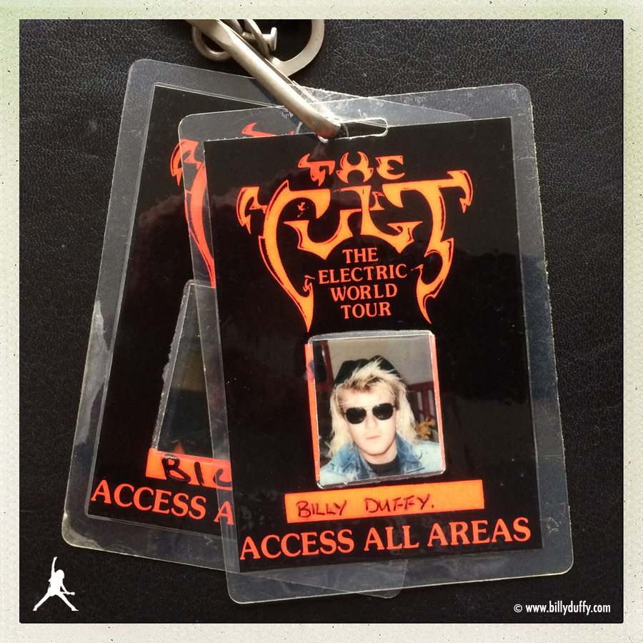 Billy Duffy's Photo Laminate #1 from The Cult 'Electric' World Tour
