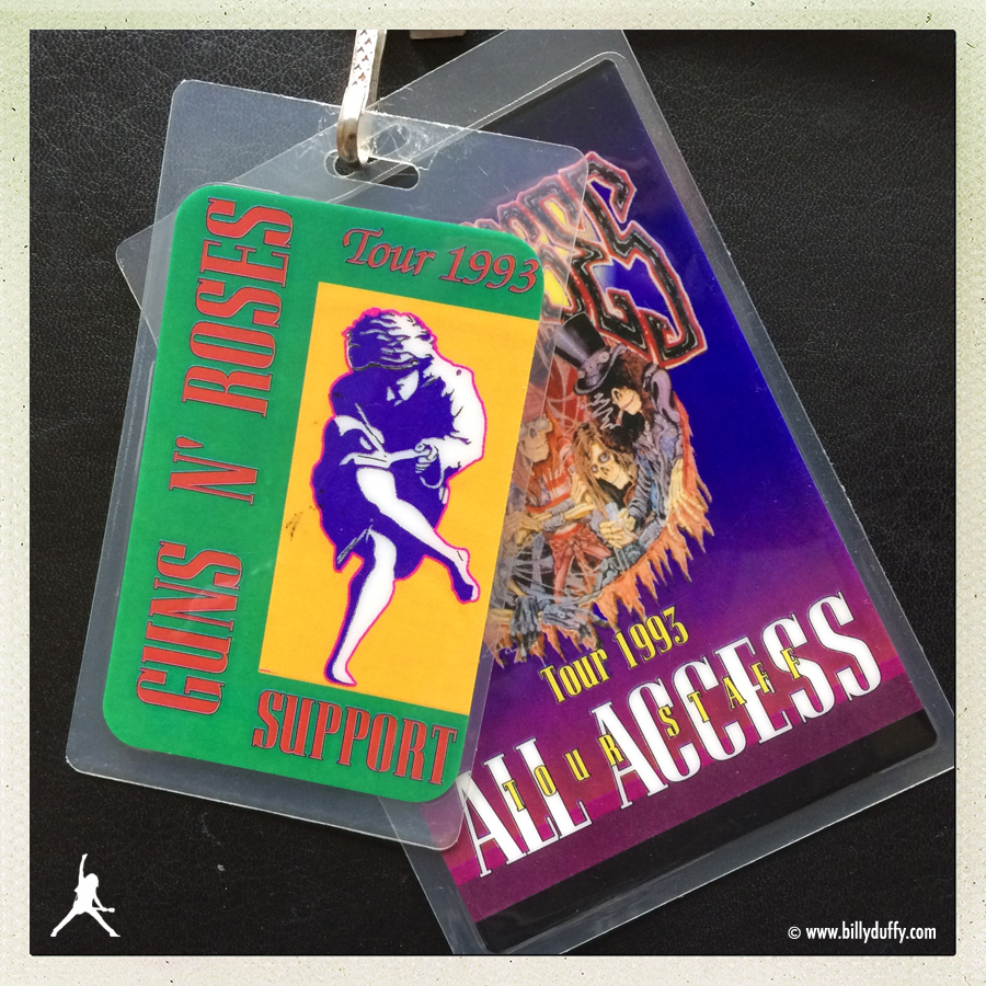 Billy Duffy's Laminates from The Cult with Guns n' Roses - 1993