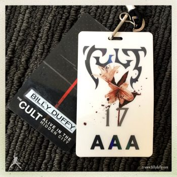 Billy's Laminate for 'Alive in the Hidden City' Tour – 2017