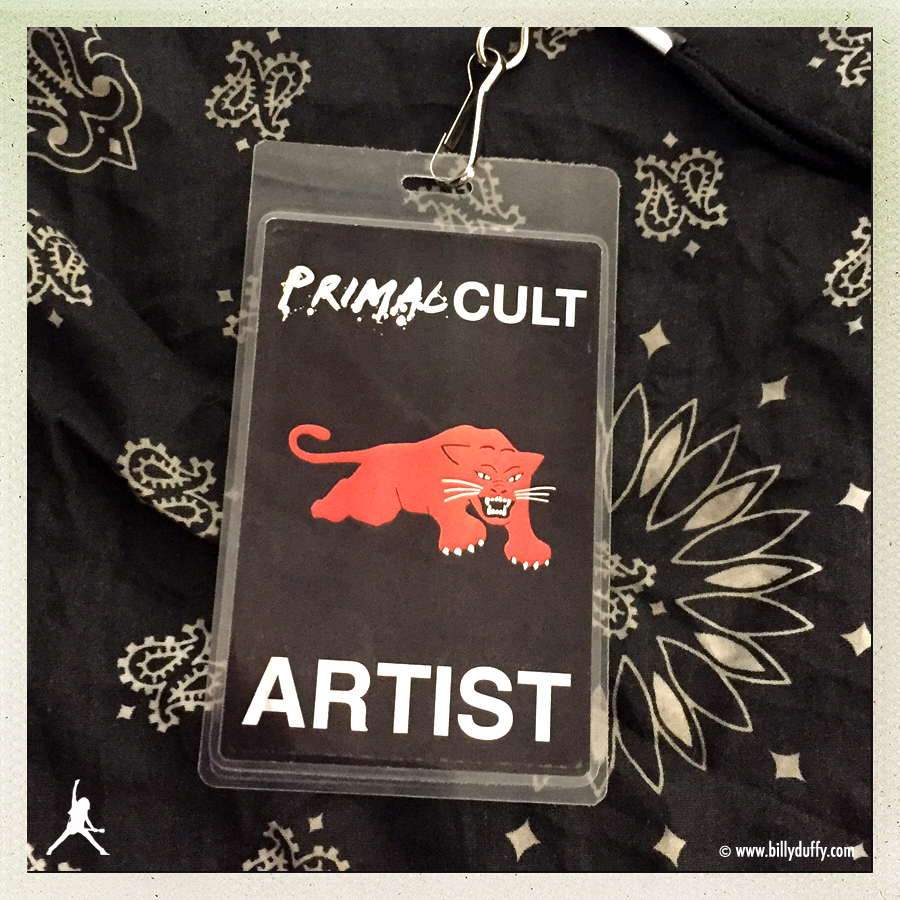 Billy Duffy's Laminate for the 'Primal Cult' tour 11-2015