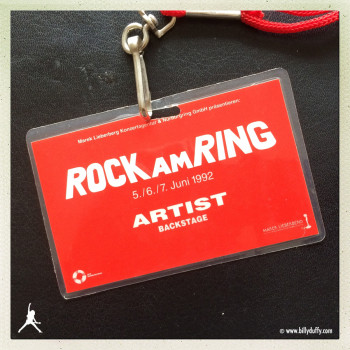 Billy's Laminate from The Cult at Rock AM Ring Festival