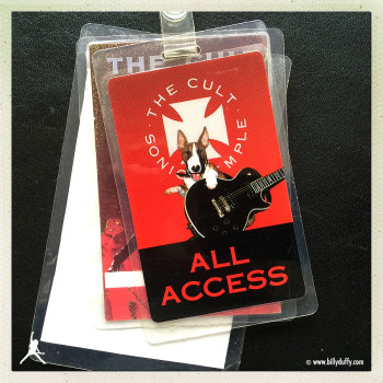 Billy's Laminate from The Cult 'Sonic Temple' Tour