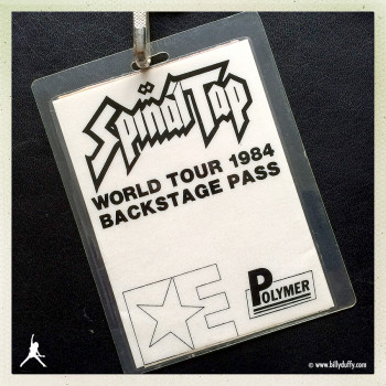 Billy's Spinal Tap 'Electric' Tour Laminate
