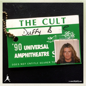 Billy's Photo Pass from Universal Amphitheatre – 1990